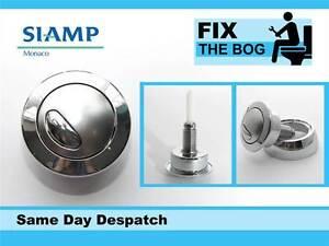 Siamp Optima 49 Toilet Push Button Dual Flush Water Saving Chrome Effect Wickes