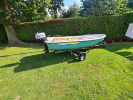 Terhi 440 14ft boat fishing outboard