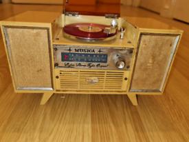 musica super stereo orgoal 1960s music box /jewelry Box
