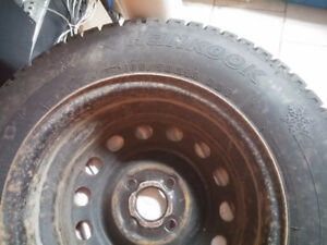 Winter tires 185/70R14 - Like new! On used rims.