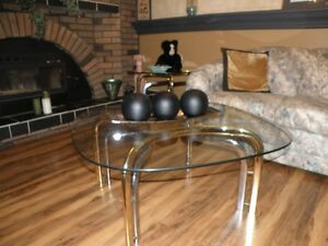 Glass top Coffee/end tables