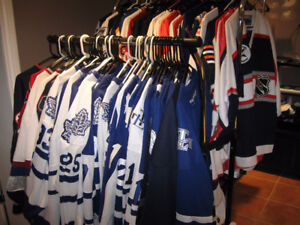 Wholesale LOT of 350+ NHL, NFL, NBA, MLB, Soccer JERSEYS!