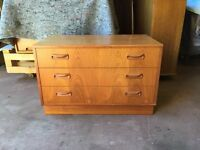 G Plan chest of three drawers teak 1970's