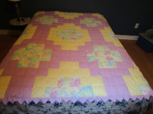 Brand New Double Quilt.... Spring or Easter Colors
