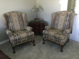 Antique Wing Back Chairs Cambridge Kitchener Area image 3
