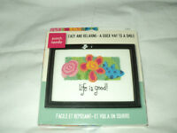 """NEW  needle punch craft  """"Life is Good"""""""