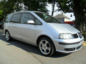 SEAT ALHAMBRA 1.9 TDi 2004 7 SEATER COMPLETE WITH M.O.T HPI CLEAR INC WARRANTY