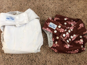 2 AIO Cloth Diapers and 2 Covers