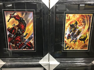 Deadpool and Wolverine comic art