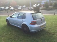 Vw golf gt tdi 130 6 speed 18 inch rs6 alloys full black leather r32 extras £1400