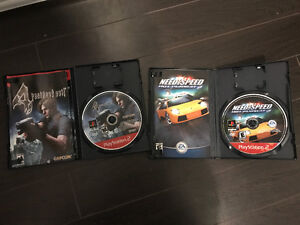 PS2 playstation 2 Games (Resident Evil, Need for Speed)