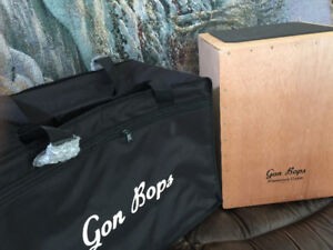 Cajon Percussion Drum and Gig Bag (LIKE NEW CONDITION)
