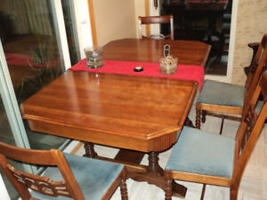 1950's Maple Wood Dining Suite/Buffet