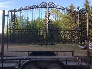 NEW Decorative Cast Iron Gates w FREE GATE OPENERS & Installatio