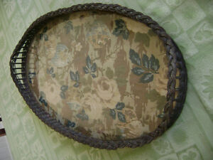 Antique wicker tray