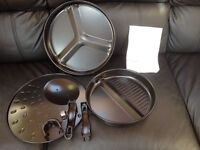 Oven/cooker divided pans with handle