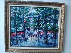 Magnifique toile du peintre Walter Klapschinski