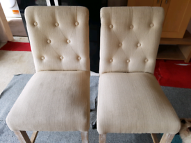 Cream bar/kitchen stools