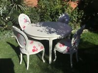 Laura Ashley French table and chairs