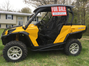 2014 Can Am Commander 1000XT (Side by side) with Plow
