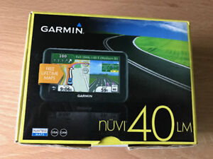 "Garmin Nuvi 40LM 4.3"" Car GPS with North America + Europe Maps."