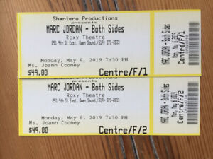 2 Marc Jordan concert tickets- discounted