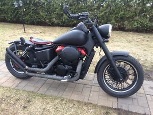 Flat Black Honda Shadow Bobber
