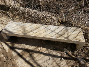 One 4ftx11.5inx8.5in precast hollow concrete step for sale