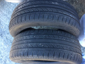 195/55/15  Cachland  2 tires  -  60% Tread Left