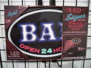 New Led Rope neon Bar Open 24 hours Sign