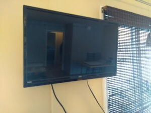 """27"""" RCA brand TV with wall mount"""