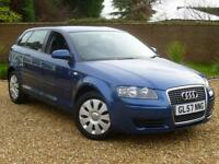 2008 57, Audi A3 2.0 TDI Sportback 5 door hatchback ++ 6 SPEED ++ 1 PREV OWNER