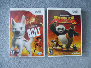2 Wii Games - Bolt and Kung Fu Panda