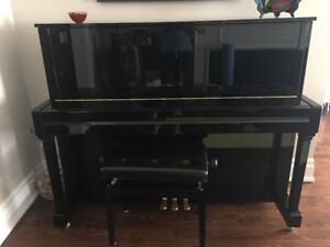 Gorgeous Kawai hi-gloss black upright piano!