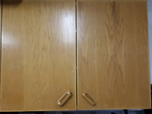 Solid wood cabinets. $50 each