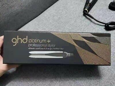 "WHITE ghd PLATINUM + Plus 1"" Professional Styler Flat Iron Hair Straightener NEW"