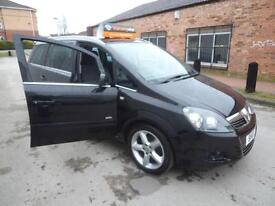 VAUXHALL ZAFIRA 1.9CDTi 16v SRi 150ps DVD PLAYER WARRANTY FINANCE AVAILABLE