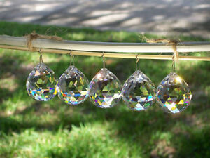 Full Cut 40mm Faceted Round Crystal Ball