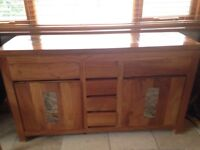 Solid Wooden table with 6 chairs and sideboard