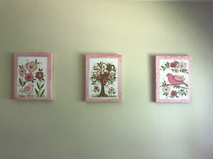 Girls Bird Nursery wall art