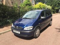 VAUXHALL ZAFIRA LIFE 1.6 2004 7 SEATER 5 SPEED LONG MOT