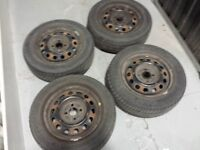 4 TOYO tires with rims for HONDA