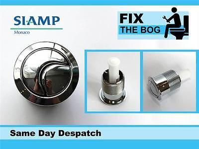 Siamp Skipper 45 Toilet Push Button Dual Flush Water Saving Chrome Homebase