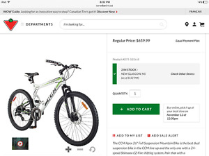 Mountain bike for sale, practically new