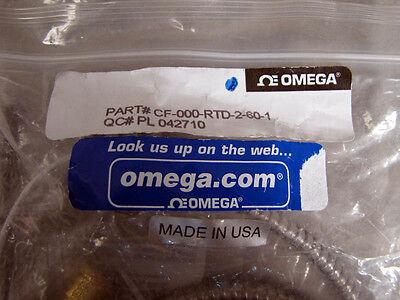 Omega Rtd Sensor Cf-000-rtd-2-60-1 Straight Compression Style Probe New
