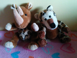 Rino and Cheetah Stuffies