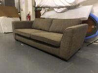 Large fabric sofa.
