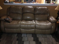 Leather chair and matching couch