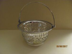 Small silver basket