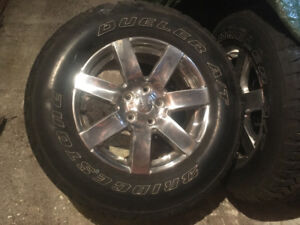 255/70R18 rims and tires
